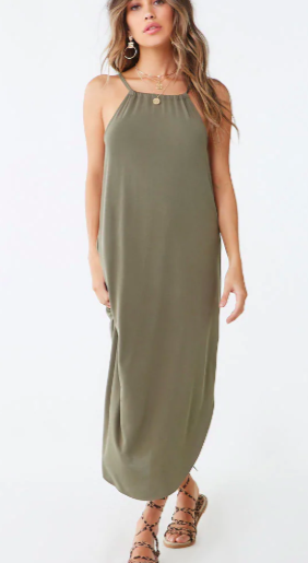 Forever 21 Curved Hem Maxi Dress