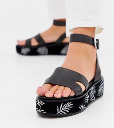 Sol Sana leather flatform sandals