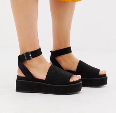 ASOS DESIGN Taylor flatform sandals