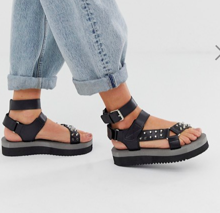 RAID Millie black chunky sport sandals
