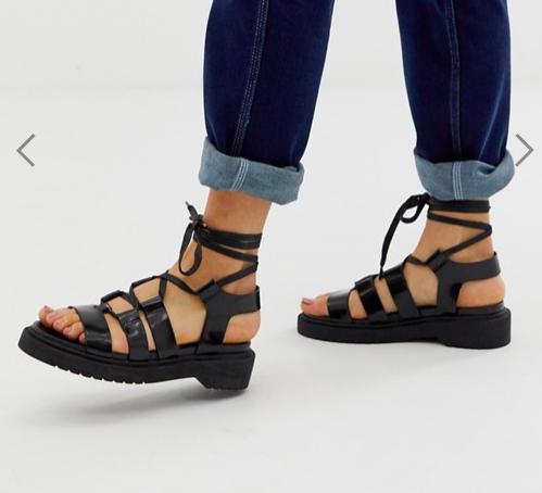 ASOS DESIGN Face Off chunky flat sandals