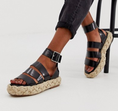 ASOS DESIGN Jao chunky espadrille sandals