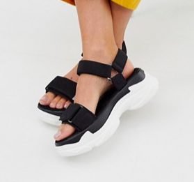 Glamorous chunky sporty sandals