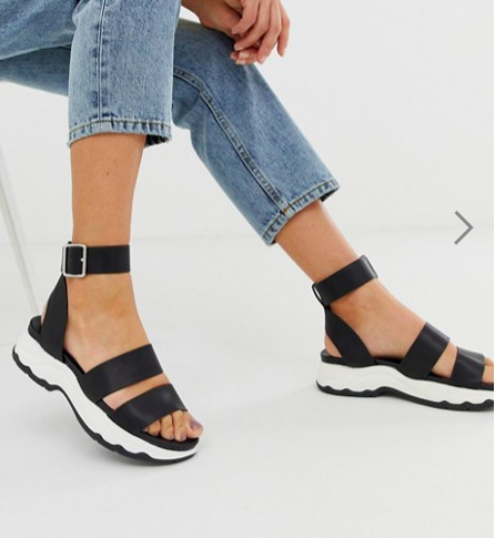 ASOS DESIGN For Real chunky sporty flat sandals