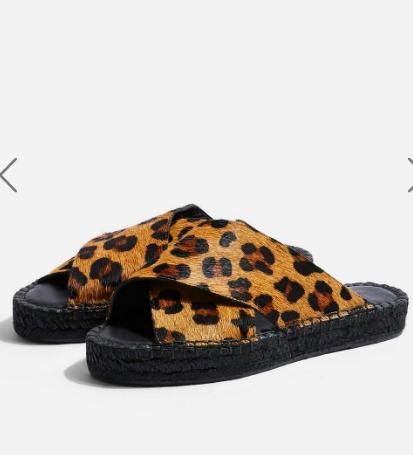 Topshop FREDDY Leopard Espadrille Sandals