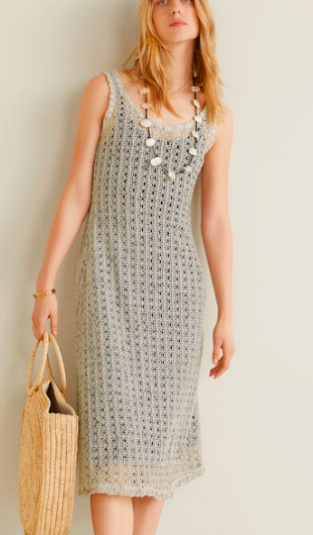 Mango Crochet dress