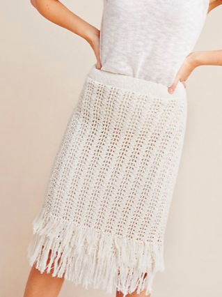 Maeve Fringed Crochet Skirt