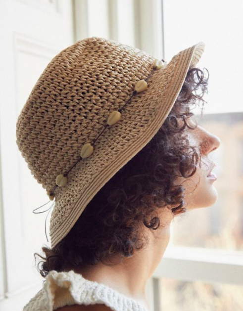 UO Emma Straw Bucket Hat