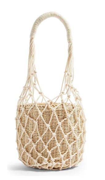 String Tote Bag, Main, color, CREAM Siren String Tote Bag TOPSHOP