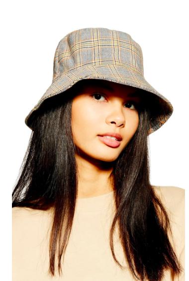 Plaid Bucket Hat TOPSHOP
