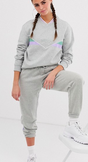 Fila oversized sweatshirt & sweatpants two-piece