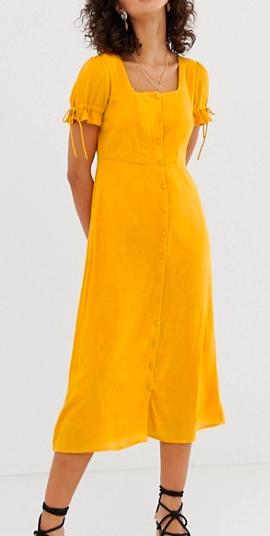 Vero Moda square neck maxi tea dress