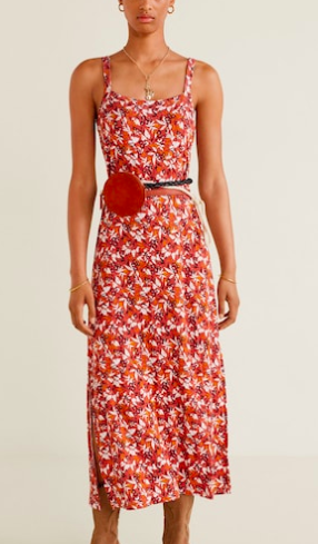 Mango Printed strap dress