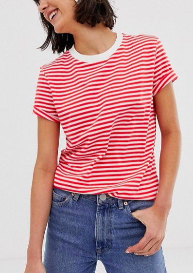 Selected Femme Stripe Boxy T-Shirt