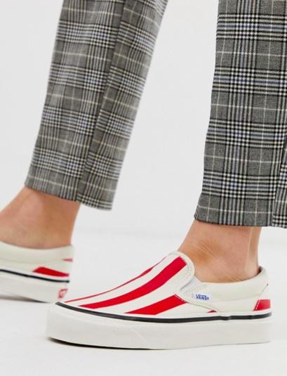 Vans Slip-On 98 DX Anaheim red stripe sneakers