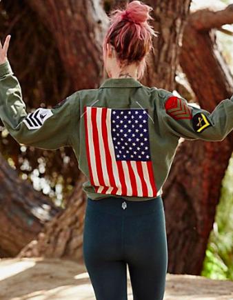 Riley Vintage Patriot Shirt Jacket
