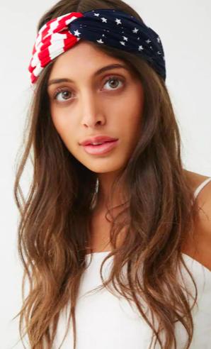 Patriotic Print Headwrap