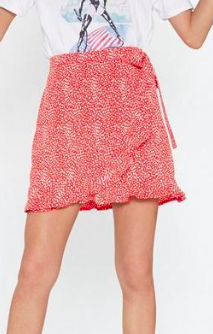 Nasty Gal Thrilled to See You Ruffle Wrap Skirt