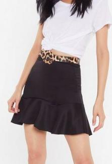 Nasty Gal Scuba Flippy Hem Mini Skirt Promotions