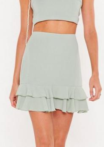 Nasty Gal Frill Got It Crinkle High-Waisted Skirt