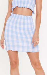 Nasty Gal Together At Last Gingham Top and Skirt Set