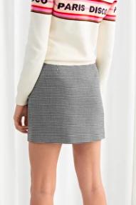 Stories Houndstooth Mini Skirt