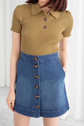 Stories Denim Mini Skirt