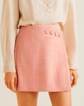 Mango Button detail miniskirt