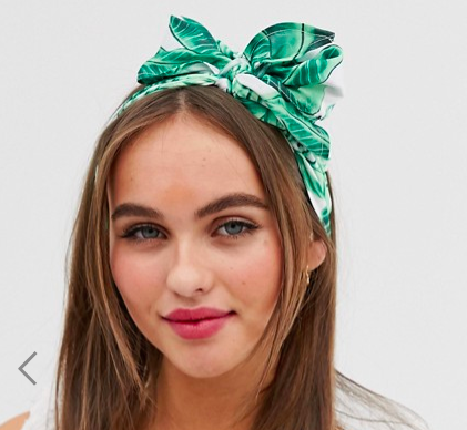 ASOS DESIGN headscarf in palm print