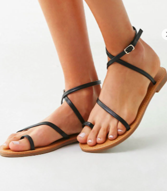 Forever 21 Wraparound Toe-Ring Sandals