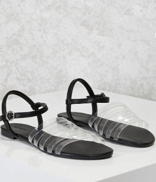 Forever 21 Clear Caged Sandals