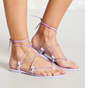 Forever 21  Jelly Wrap Sandals