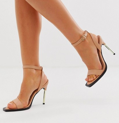 ASOS DESIGN Harris barely there heeled sandals