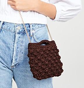 Caterina Bertini Crochet Crossbody Bag