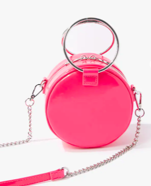 Forever 21 Faux Patent Leather Round Bag