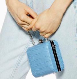 Topshop FAY Crocodile Mini Boxy Bag