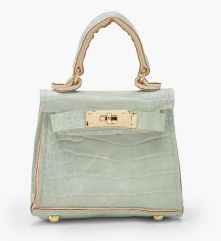Boohoo Micro Mini Croc Grab Bag