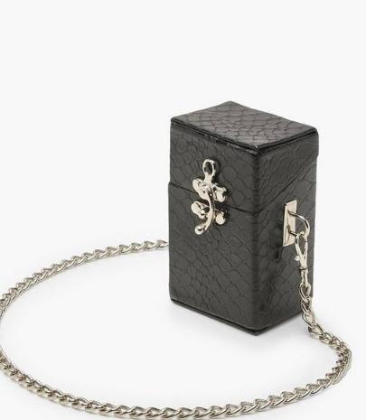 Boohoo Premium Mini Box Cross Body Bag