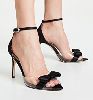 Badgley Mischka Lindsay Vinyl Ankle Strap Sandals