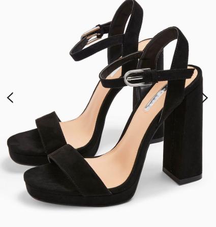 Topshop SABINE Black Platform Heels