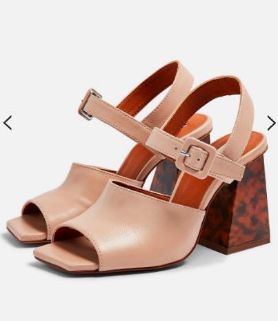 Topshop ROSE Marble Heeled Sandals