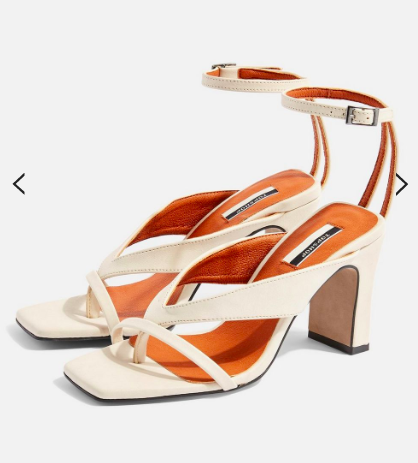 Topshop REID Vegan Stone Strappy Sandals