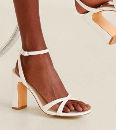 Mango Croc-effect sandals