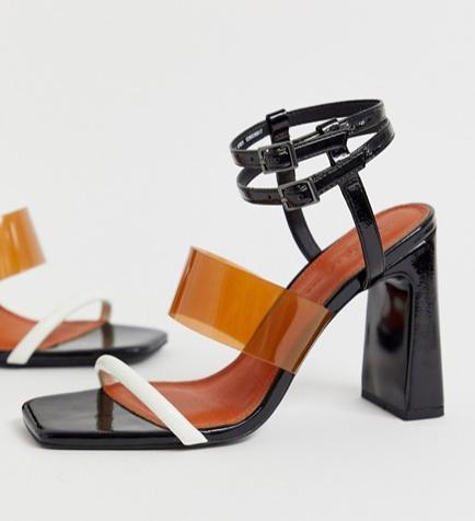 ASOS DESIGN Native triple strap block heeled sandal