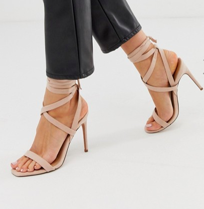 ASOS DESIGN Hollis barely there heeled sandals