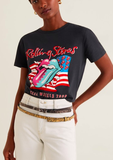 Mango The Rolling Stones T-shirt