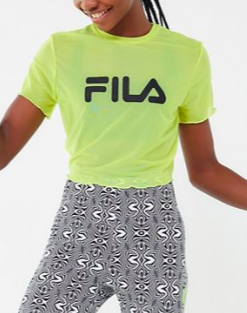 FILA UO Exclusive Ruth Sheer Mesh Logo Tee