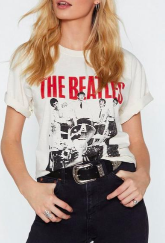 Nasty Gal The Beatles Tee