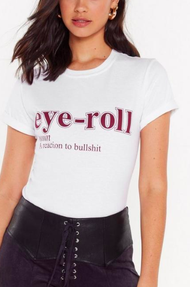 Nasty Gal The Definition of Eye-Roll Graphic Tee