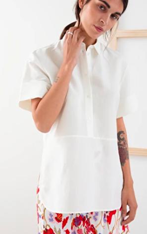 Stories Short Sleeve Button Up Shirt